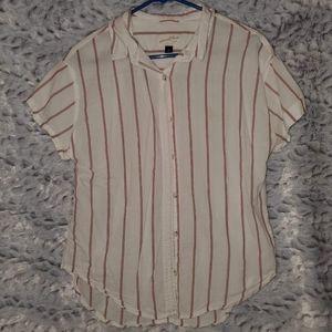 !4 for 25! vertical stripe button down shirt
